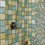 Bath with shower and custom tile work