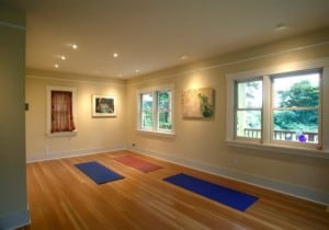 Spacious room, perfectly transformed for yoga