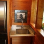 Vashon Island Custom stainless laundry sink