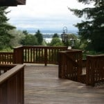 New Vashon Island Deck with View